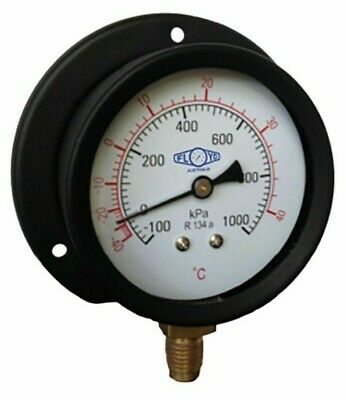 Floyd R134A COMPOUND GAUGE 63mm -100 To 1000kpa Surface Mount Bottom Entry