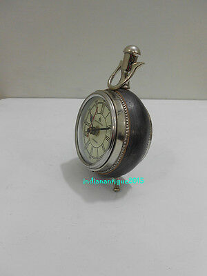 Nautical Collectible Decorated  Street London Mechanical Leather Table Clock
