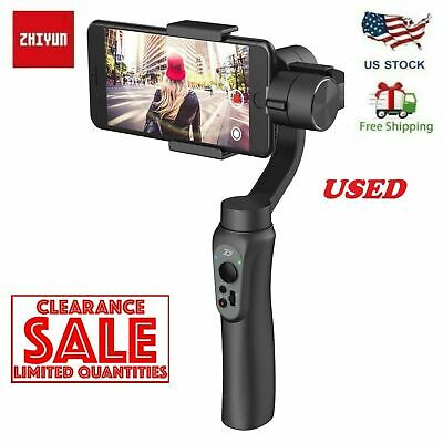 USED Zhiyun Smooth-Q Handheld Gimbal Stalilizer for Smartphone iPhone Android