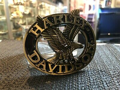 Belt Buckle Harley / Davidson Motor Cycles Gold Eagle / Aussie Stock !