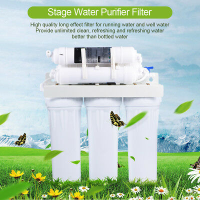 New 5/6 Stage Reverse Osmosis Drinking Water System Home Purifier Water Filters