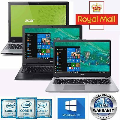 Acer Laptop Intel Core i5 i3 4GB 2GB 8GB RAM SSD HDD 500GB 1TB Windows 10 Cheap