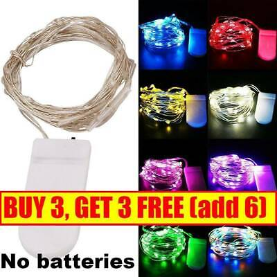 20/30/100 LED Battery Micro Rice Wire Copper Fairy String Lights Party White RO