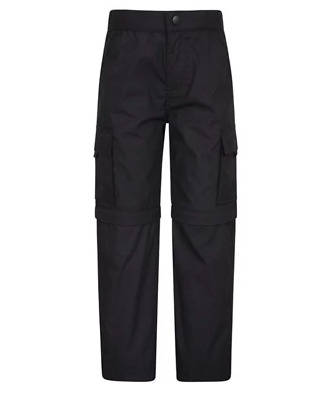 Mountain Warehouse Active Convertible Trousers Black Age 13 Years TD098 ii 13