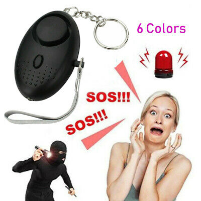 Police Approved Keyring Personal Panic Attack Safety Security Alarm 130db Silver