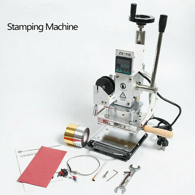 Slideable Workbench Hot Foil Stamping Machine Leather Embossing Bronzing Tool