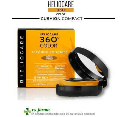 Heliocare 360 Color Cushion Compact Spf50+ Protector Solar  Bronze Intense 15G