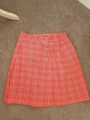 Madison True Vintage Red Checked Skort Small