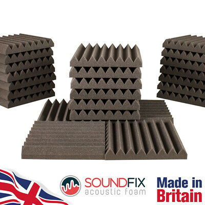 24x SoundFix Acoustic Foam Tiles - 50mm thick 300mm Studio Sound Room Treatment