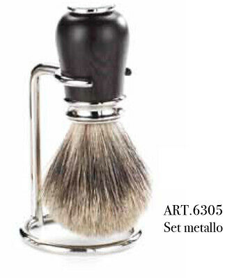 Shaving brush with stand 6305 chrome