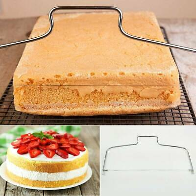 Double Line Cake Cutter Bread Wire Slicer Leveller Decorator Baking Steel Tool