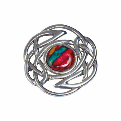 Heathergems Celtic Knot Pewter Brooch - Made in Scotland from Heather