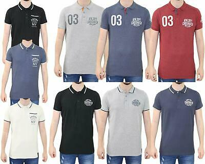Mens Polo Shirts 100% Cotton Pique PK Shirt Short Sleeve Tshirts Top S to 2XL