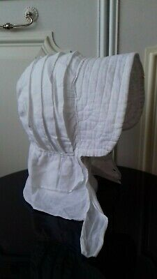 Antique - Late 19th / Early 20th Century - Sun Bonnet – Fine White Cotton