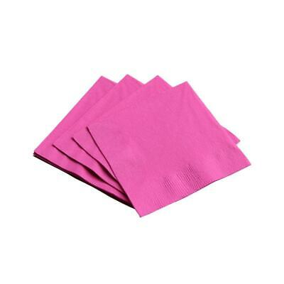 100 Hot Pink Paper Napkins Soft Serviettes Birthday Wedding Party Catering 2ply