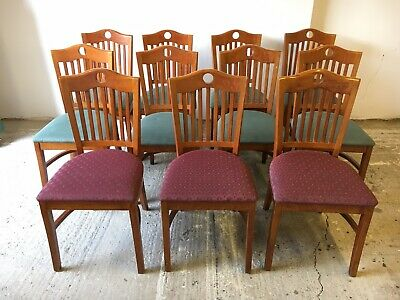 Set of 11 Dining Chairs (Bar / Pub / Cafe / Restaurant Chairs) (FMG)