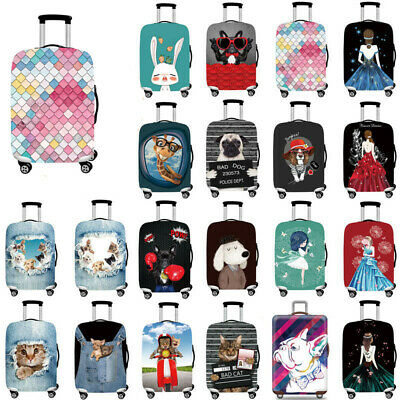 """Thick Elastic Luggage Protective Cover Dust Case Travel Suitcase Cover 18"""" - 32"""""""