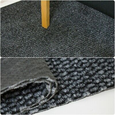 Contract Carpet OFFICE/SHOP Black Grey Gel Back Carpet 4m Wide £5.99m²
