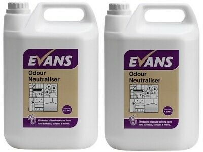 2 x Evans Odour Neutraliser Air Freshener Pet Odours Ready to Use 5ltr