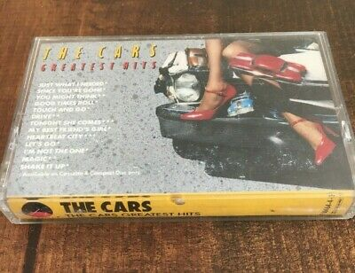 The Cars The Cars Greatest Hits Vintage Cassette Tape