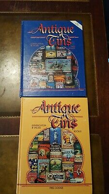Antique Tins Identification & Values Books 1 & 2 By Fred Dodge