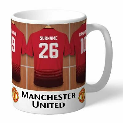 Personalised MANCHESTER UNITED Football Club FC Dressing Room Mug Gift Cup