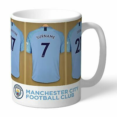 Personalised MANCHESTER CITY Football Club FC Dressing Room Mug Gift Cup Present
