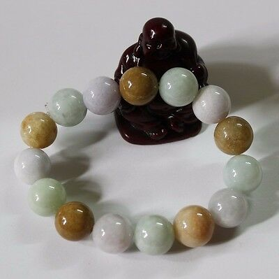 Certified Natural Jade (Grade A) Chinese Jadeite Beaded Bracelet #J0051