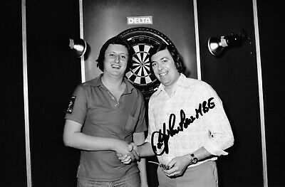 JOHN LOWE DARTS HAND SIGNED PHOTO AUTHENTIC + COA - 12x8