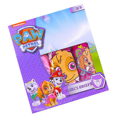 Girls Paw Patrol Brieifs Pants Age 2-8 Years Pack Of 3