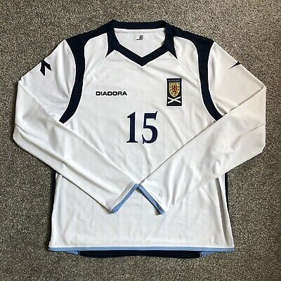 Scotland 2009/10 Diadora Match Worn Issue Away Shirt #15 Under-21s