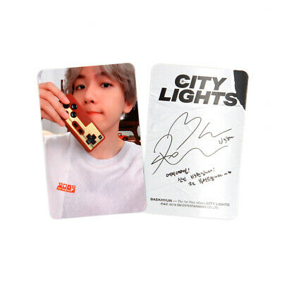 [EXO BAEKHYUN] Album - City Light / Day Version Official Photocard - Baekhyun 1