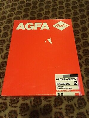 AGFA BS 310 RC 2 Glossy 100 Sheets 8x10 Sealed Speed 2 Brovira