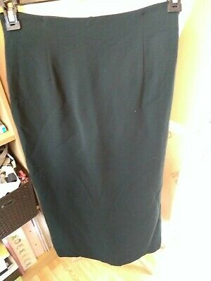Ladies Vintage Armani dark green Wiggle Pencil Skirt Size 12