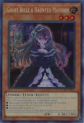Ghost Belle  Haunted Mansion (FLOD-EN033) -  Secret Rare Yugioh