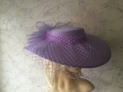 Authentic Vintage Beautiful  Lilac Occasion Hat