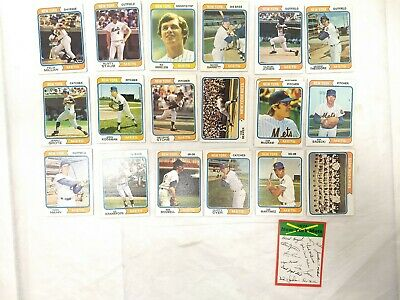 Vintage 1974 NEW YORK METS - Lot of 21 Topps Baseball Cards