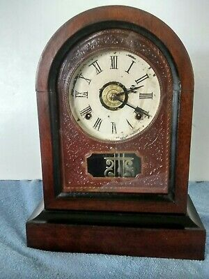 Antique 1870 Early Rare Jerome And Co. Post Civil War Era Eight Day Shelf Clock