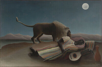 Art HD Printed Oil Painting Wall Decor Henri Rousseau The Sleeping Gypsy