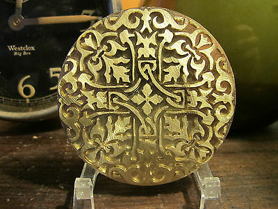 ORNATE HISTORIC ROUND #2 Leather Bookbinding Finishing tool Stamp EMBOSSING die