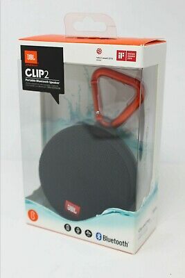 JBL Clip 2 Waterproof Ultra-Portable Wireless Bluetooth Speaker - Black - NEW !!