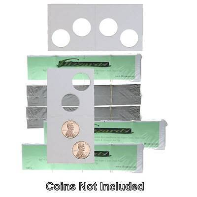 2 Hole - Penny/Cent Guardhouse 2x2 Mylar/Cardboard Coin Flips, 500 pack