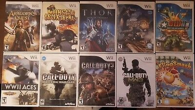 Lot 10 Nintendo Wii games, Authentic, Tested, Call of Duty, Monster Hunter, etc