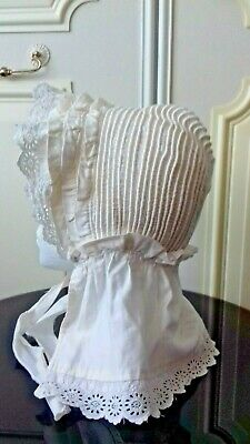Antique - Late 19th / Early 20th Century - Sun Bonnet – White Cotton