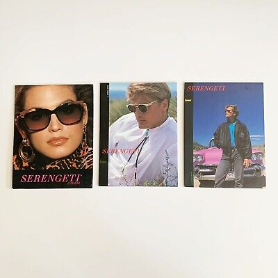 Serengeti Store Sign Display Stand Up Sunglasses 1980's Vintage Cindy Crawford