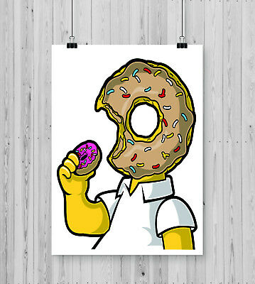 I Like Donuts - Modern Wall Art - Design Print Games Room Gift Poster Cartoon