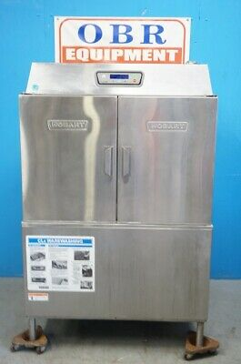 Hobart Commercial High Temperature Conveyor Dishwasher Model Cl44E W/ Electric H