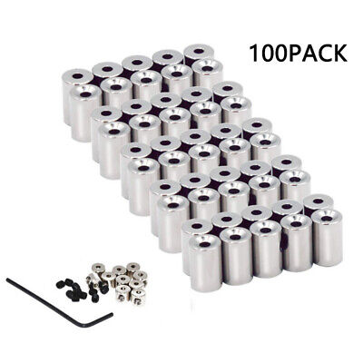 100PCS Pin Keepers Pin Locks Locking Pin Back Clasp Replacement with 10 Wrenches