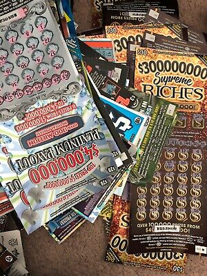 LOTTERY TICKETS SCRATCH Offs Non-Winning California No 2nd Chance