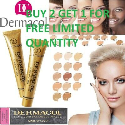 Dermacol High Cover Makeup Foundation Authentic BUY 2 GET 1 FOR FREE +FREE SHIPP